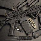 Assault Rifle Weapon Art 32x24 Poster Decor