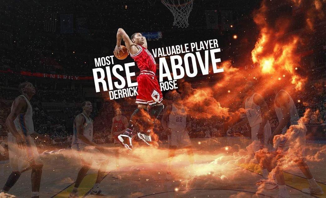 Derrick Rose Basketball Star Art 32x24 Poster Decor