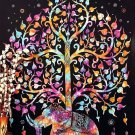 Elephant Mandala Tree Art 32x24 Poster Decor