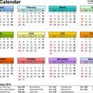 Calendar 2016 Year Art 32x24 Poster Decor