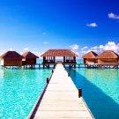 Maldives Sea Sky Landscape Beach Art 32x24 Poster Decor