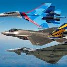 F 35 Lightning II Strike Fighter Art 32x24 Poster Decor
