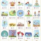 My ABC Alphabet Learn Table Art 32x24 Poster Decor