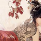 Anime Tattoo Girl Art 32x24 Poster Decor