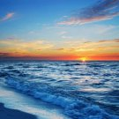 Sunset Sea Beach Landscape Art 32x24 Poster Decor