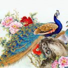 Elegant Peacock Art 32x24 Poster Decor