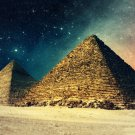 Sunset Egypt Pyramids Art 32x24 Poster Decor