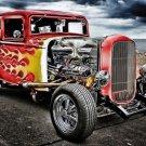 Hot Rod Vintage Cars Art 32x24 Poster Decor