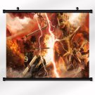 Attack On Titan Poster With Wall Scroll Decor