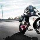 Yamaha R1 Sport Bike Motorcycle Art 32x24 Poster Decor