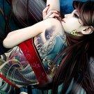 Anime Tattoo Girl Art 32x24 Poster Decor