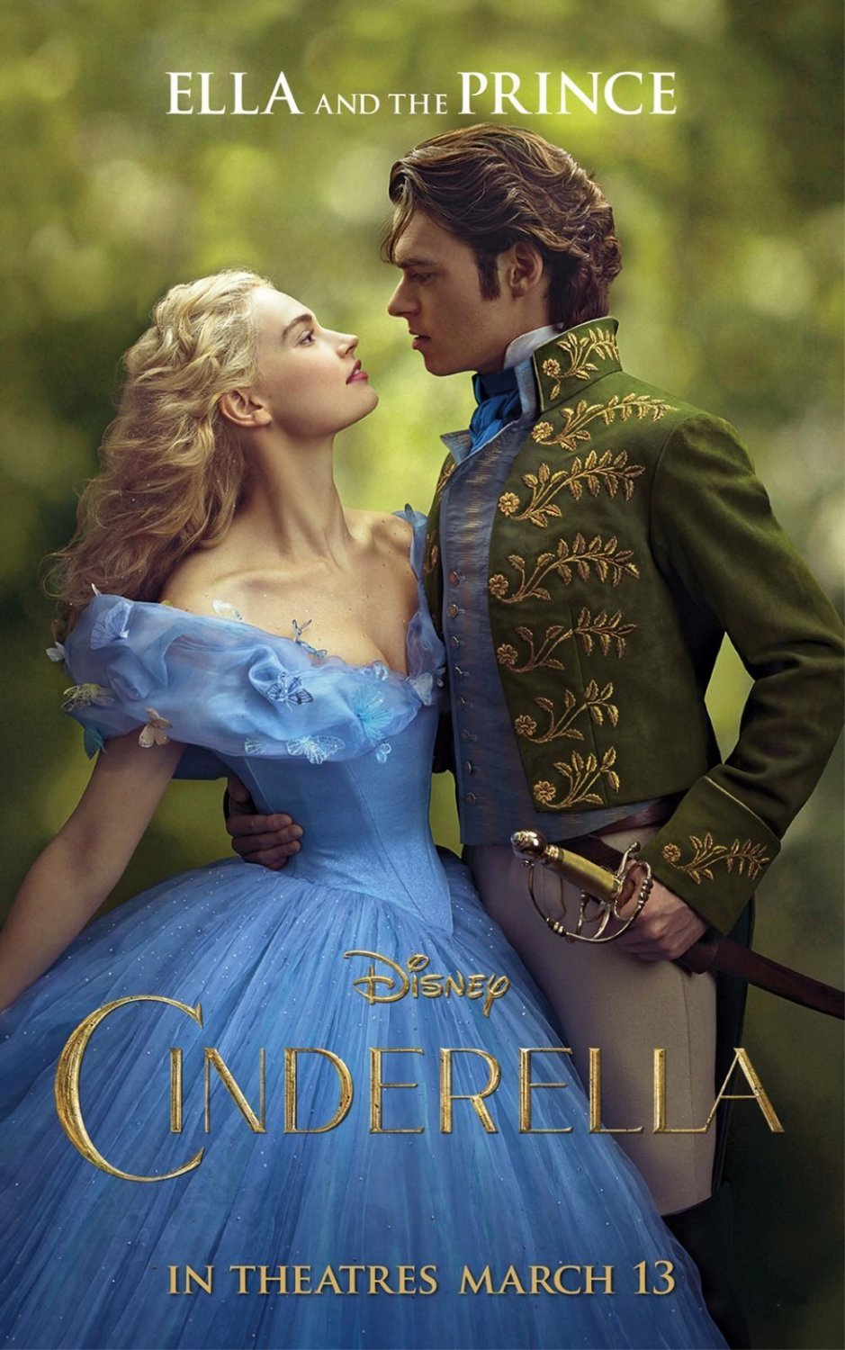 Cinderella 2015 Movie Art 32x24 Poster Decor