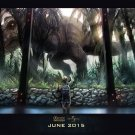 Jurassic World Dinosaur Moster Art 32x24 Poster Decor