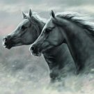 Galloping Horses Art 32x24 Poster Decor