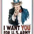 Uncle Sam I Want You Art 32x24 Poster Decor