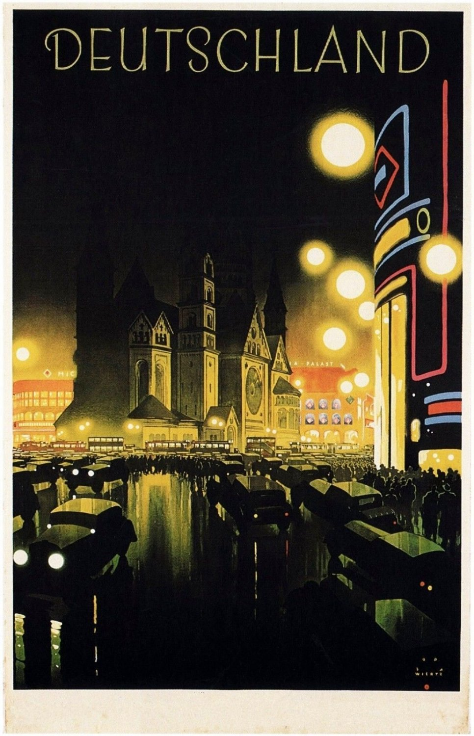 Germany Vintage Travel Art 32x24 Poster Decor