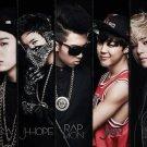 BTS K Pop Art 32x24 Poster Decor