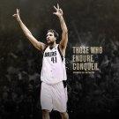 Dirk Nowitzki Basketball Star Art 32x24 Poster Decor