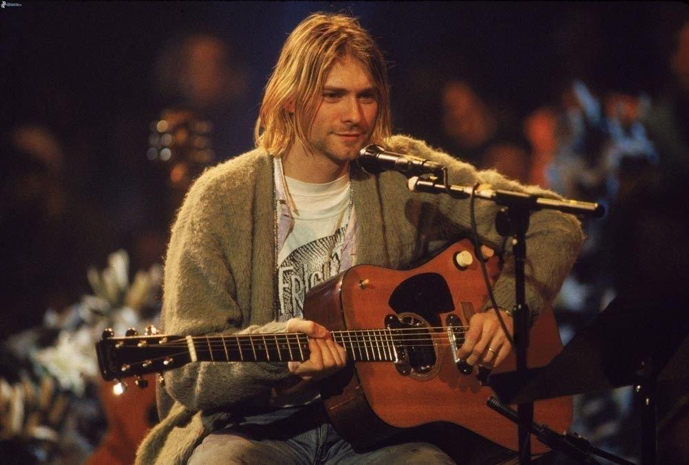 Nirvana Kurt Cobain Guitar Show Art 32x24 Poster Decor