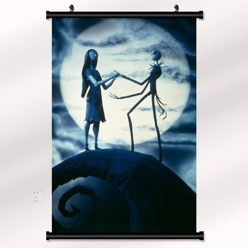 The Nightmare Before Christmas Poster With Wall Scroll Decor