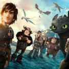 How To Train Your Dragon 1 2 Hot Movie Art 32x24 Poster Decor