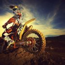 Motocross Dirt Bike Jump Sport Art 32x24 Poster Decor