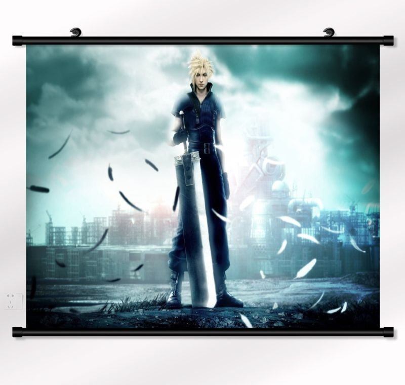 Final Fantasy Poster With Wall Scroll Decor