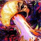 Magic Mushroom Art Art 32x24 Poster Decor