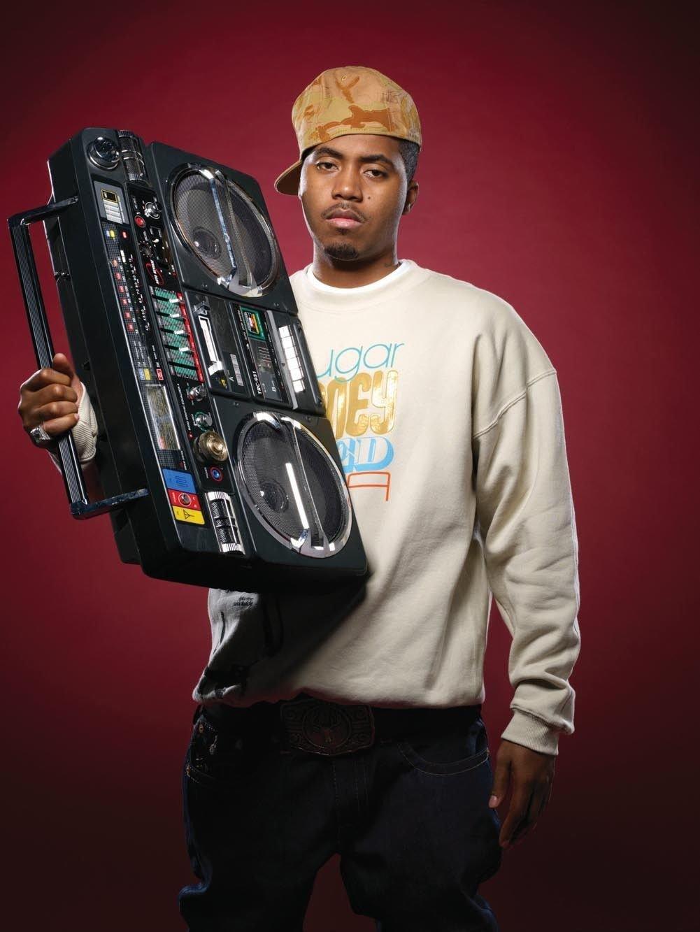 Nasty Nas Rap Singer Art 32x24 Poster Decor