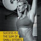 Sexy Girl Bodybuilding Motivational Art 32x24 Poster Decor