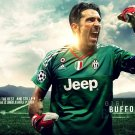 Buffon Goalkeeper Football Star Art 32x24 Poster Decor