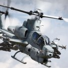 Cobra AH 1 Bell Attack Helicopter Art 32x24 Poster Decor