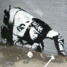 Banksy Street Art Canvas Art 32x24 Poster Decor