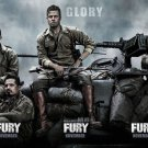 Fury Movie 2014 Art 32x24 Poster Decor
