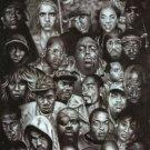 Rap Gods Rapper Collage Art 32x24 Poster Decor