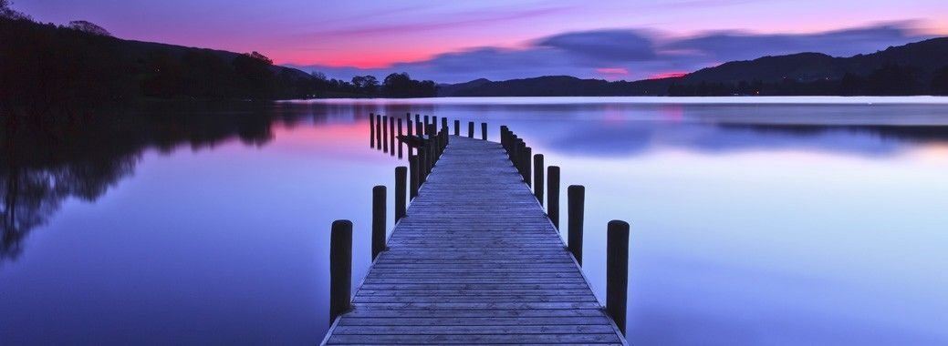 Coniston Water Jetty Lake Art Wall Print POSTER Decor 32x24