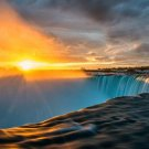 Sunset Niagara Falls Landscape Wall Print POSTER Decor 32x24