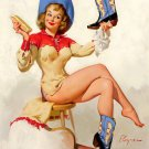 Vintage Gil Elvgren Pinup Girl Wall Print POSTER Decor 32x24