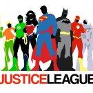 Justice League Minimalist Movie Anime Wall Print POSTER Decor 32x24