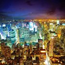 New York City Night Cityscape Wall Print POSTER Decor 32x24