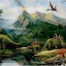 Dinosaur Volcanoes Art Murals Wall Print POSTER Decor 32x24