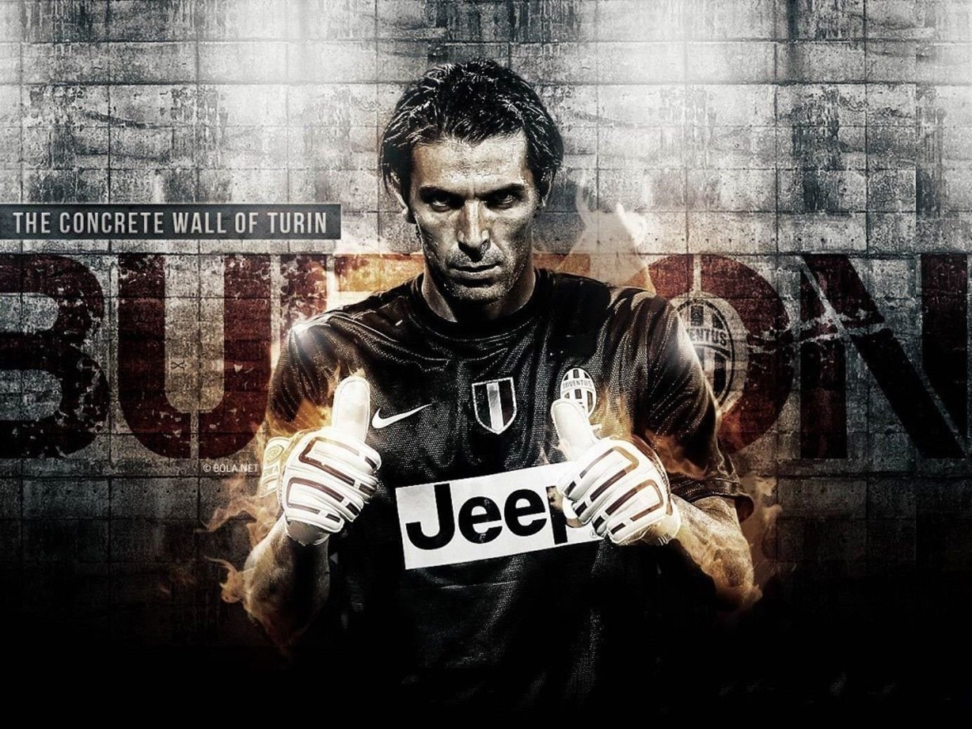 Buffon Goalkeeper Football Stars Wall Print POSTER Decor 32x24