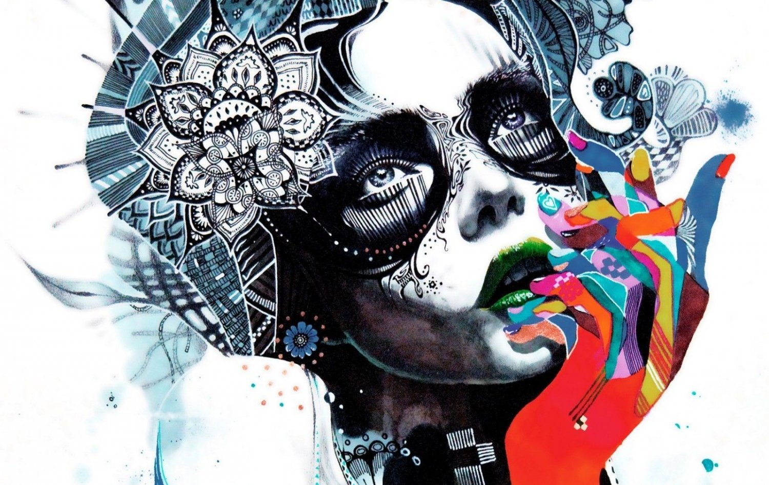 Psychedelic Trippy Art Wall Print POSTER Decor 32x24