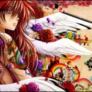 Anime Tattoo Girl Wall Print POSTER Decor 32x24