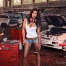 Miss Tuning Car Wall Print POSTER Decor 32x24
