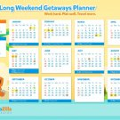 Calendar 2016 Year Wall Print POSTER Decor 32x24