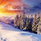 Sunrise Snow Mountains Wall Print POSTER Decor 32x24