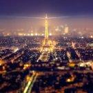 Paris Eiffel Tower Landscape Wall Print POSTER Decor 32x24