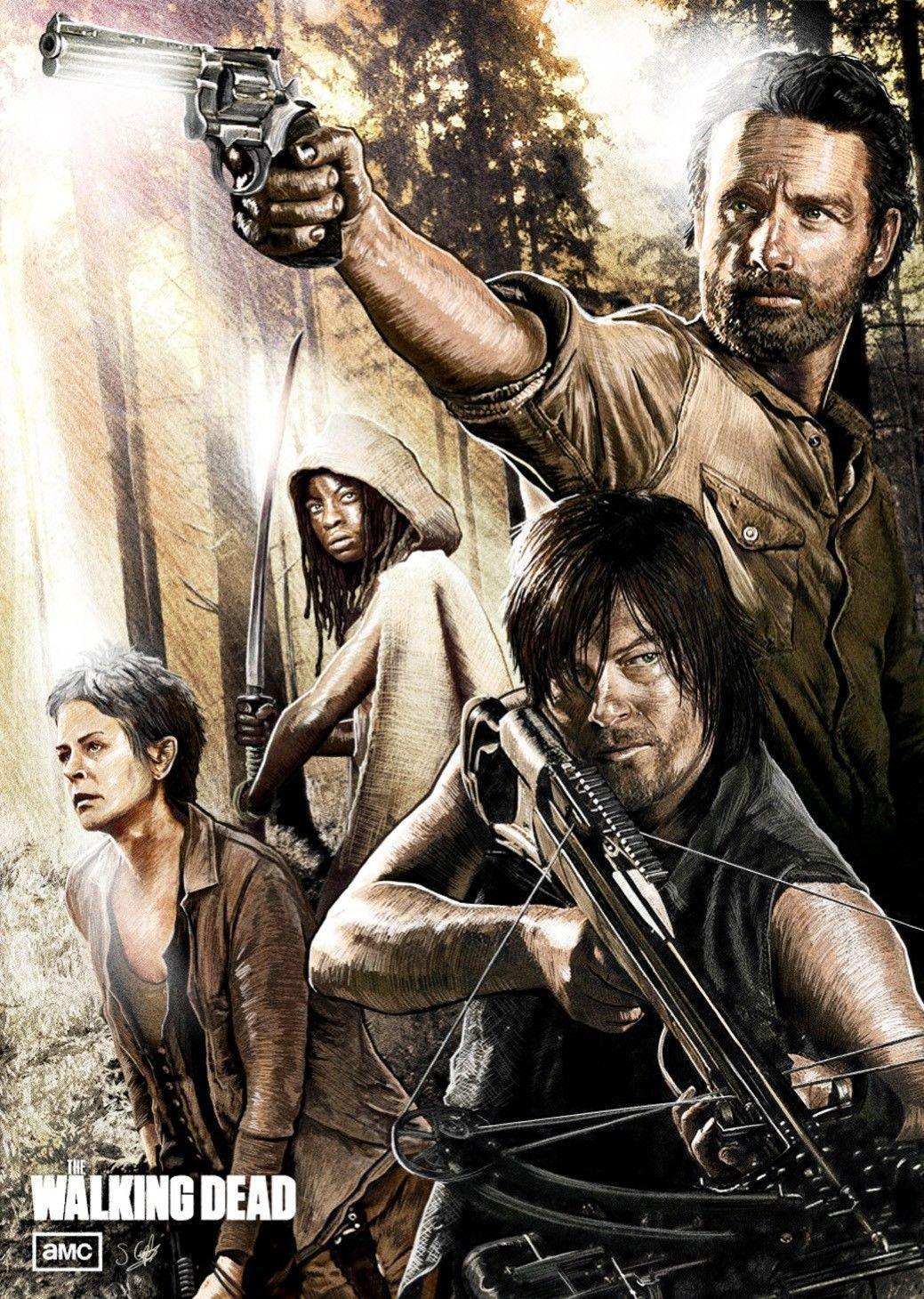 The Walking Dead Art Wall Print POSTER Decor 32x24