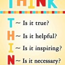 Think Before You Speak Classroom Motivational Wall Print POSTER Decor 32x24